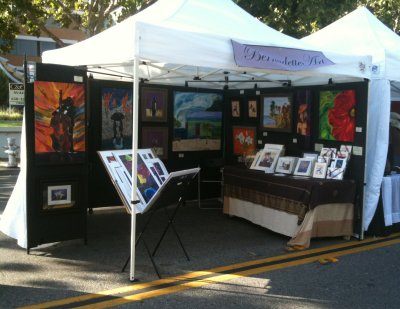 Bernadetteart pro panel rentals for 10x10 craft show tent
