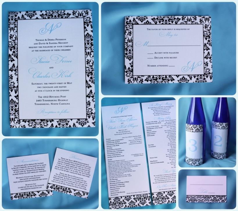 modern damask wedding invitations size408.7KB