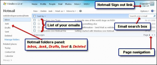 my msn hotmail inbox messages hotmail sign in size17.9KB