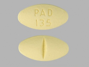 yellow 93 12 pill size